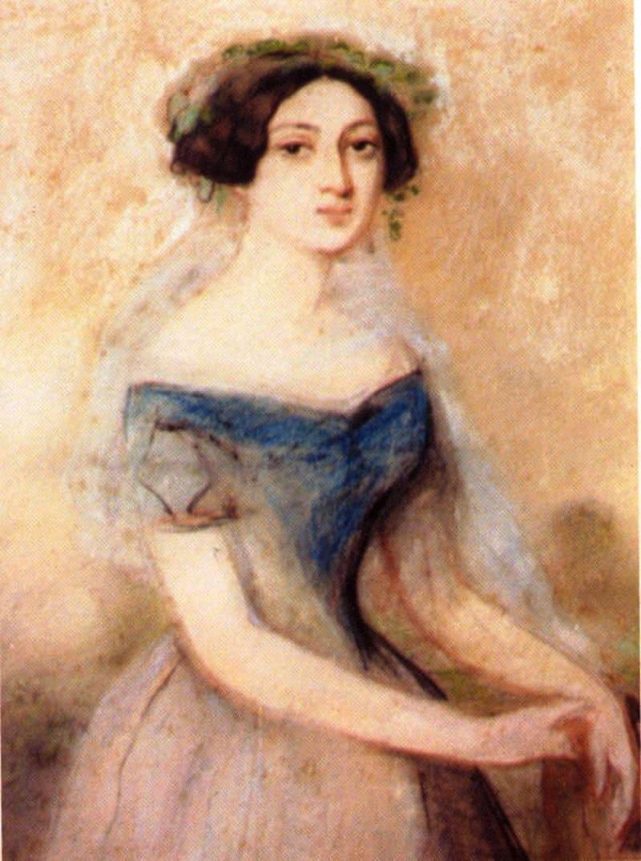 Эмиль Франсуа Дессен «Нина Грибоедова-Чавчавадзе в юности», середина XIX века