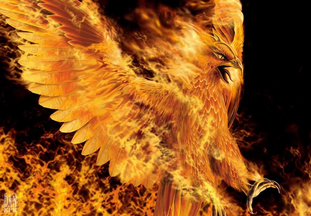 Феникс - существо прекрасное и непостижимое / © Daniel Trajtemberg / artstation.com