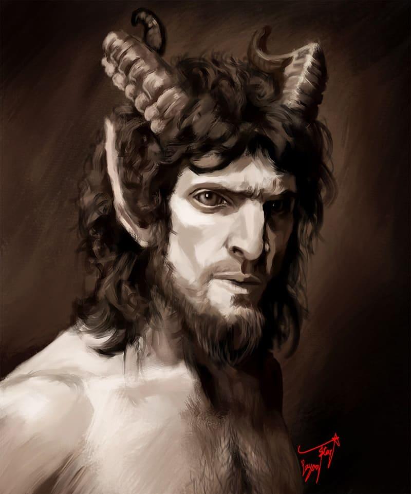 Греческий бог Пан / © payam_rockstar / artstation.com