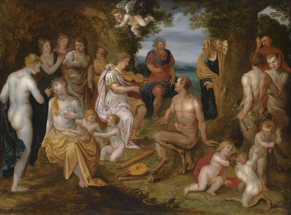 Хендрик де Клерк «Наказание короля Мидаса после состязания между Аполлоном и Паном», 1613 год Местонахождение: Частная коллекция