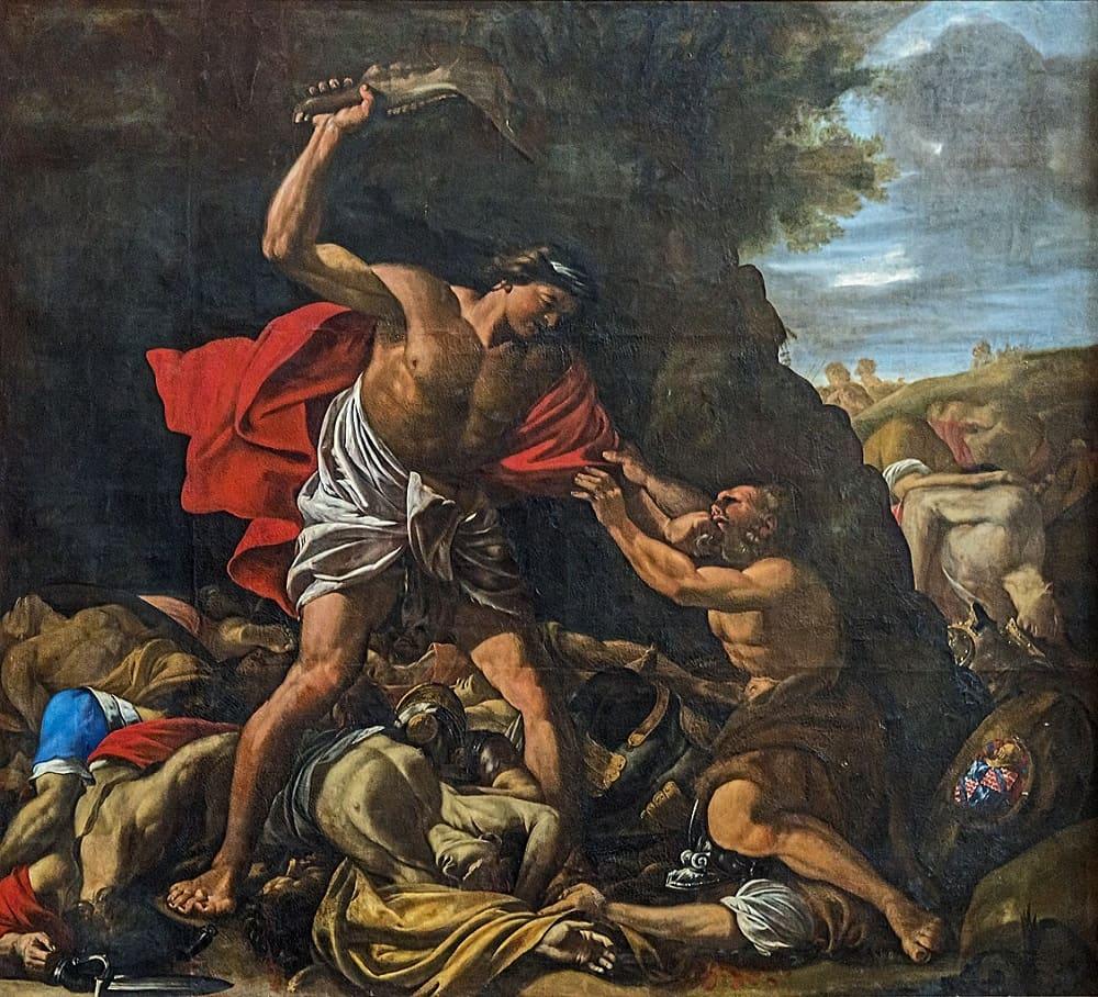 Хилер Падер «Самсон, убивающий филистимлян», XVII век Местонахождение: Кафедральный собор, Тулуза, Франция