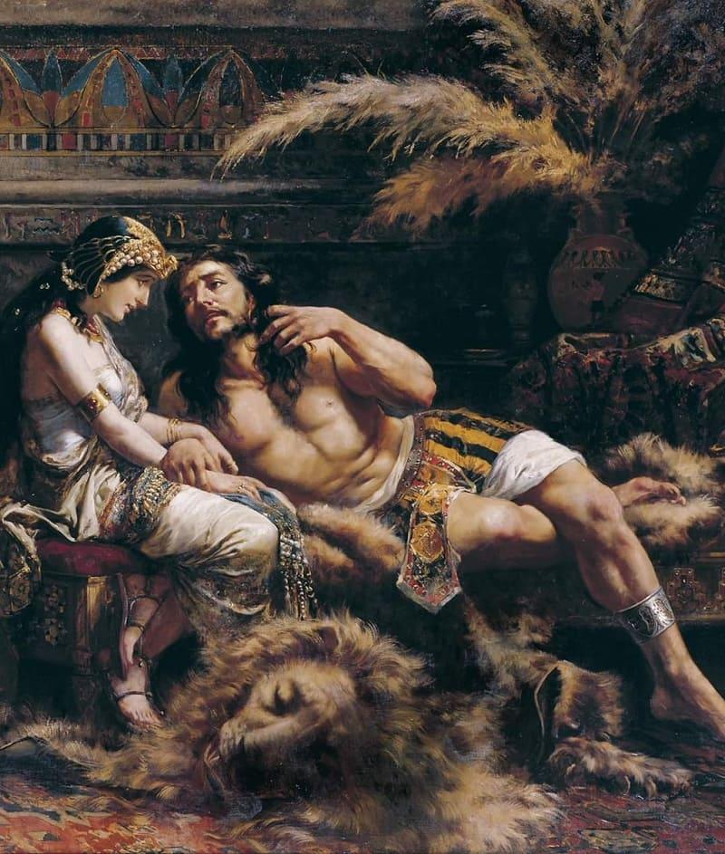 Хосе Эченагусиа «Самсон и Далила», 1887 год Местонахождение: Музей изящных искусств Бильбао, Испания