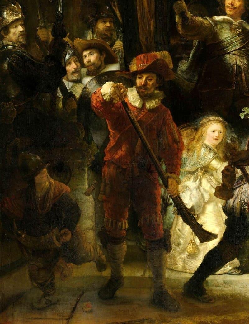 Капитан Кок отдал приказание о выступлении лейтенанту Рёйтенбюргу, мушкетёры готовят оружие