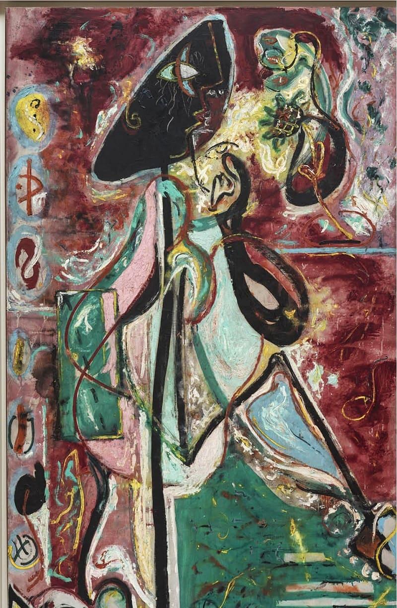Картина периода становления Поллока как художника - «Лунная женщина», 1942 год Местонахождение: Коллекция Пегги Гуггенхайм, Венеция, Италия