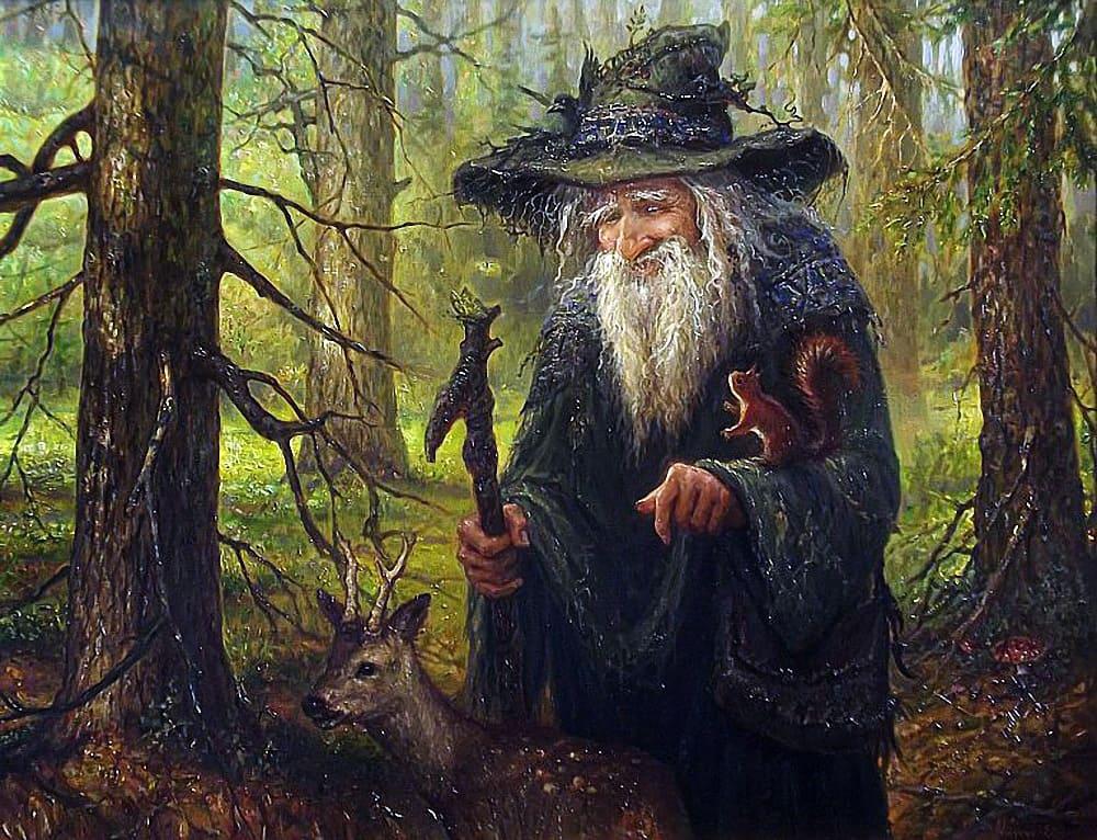 Колдуны могли быть и добрыми, как на картине Игоря Валериевича Майкова / artnow.ru