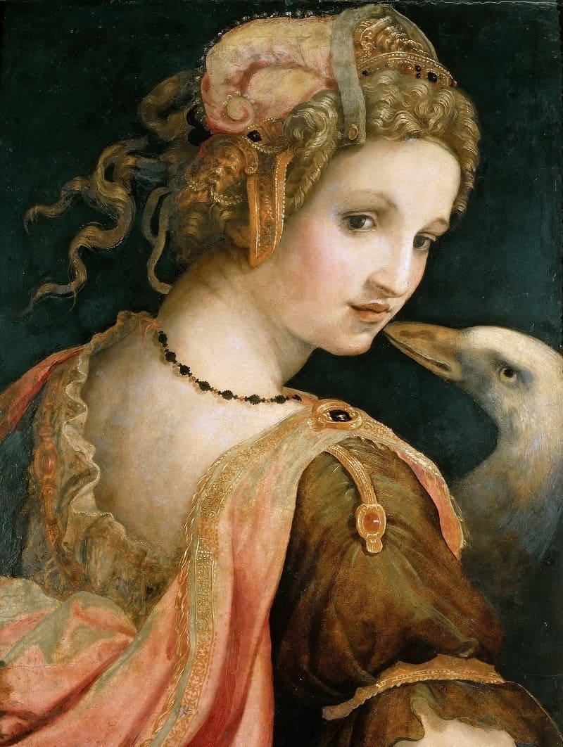 Микеле Тозини «Леда», 1560-1570 годы Местонахождение: Галерея Боргезе, Рим, Италия
