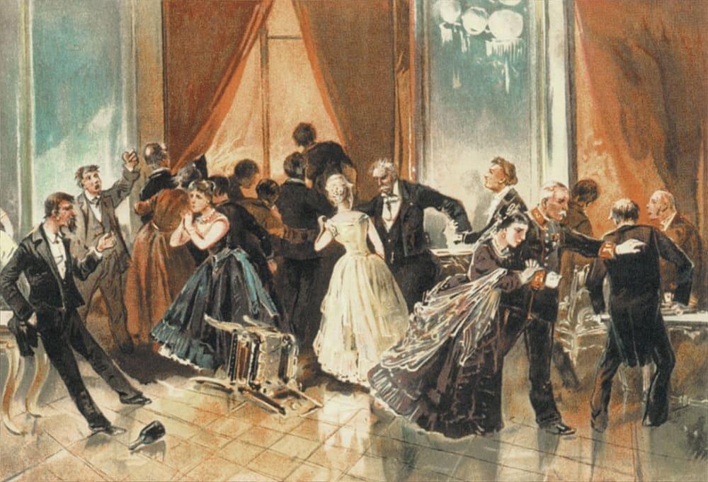 Николай Николаевич Каразин. Иллюстрация к роману «Бесы», 1893 год