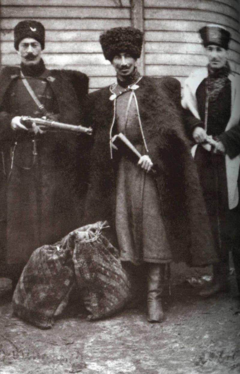Первая мировая война. Военнослужащие Кабардинской конной бригады ротмистра Даутокова-Серебрякова