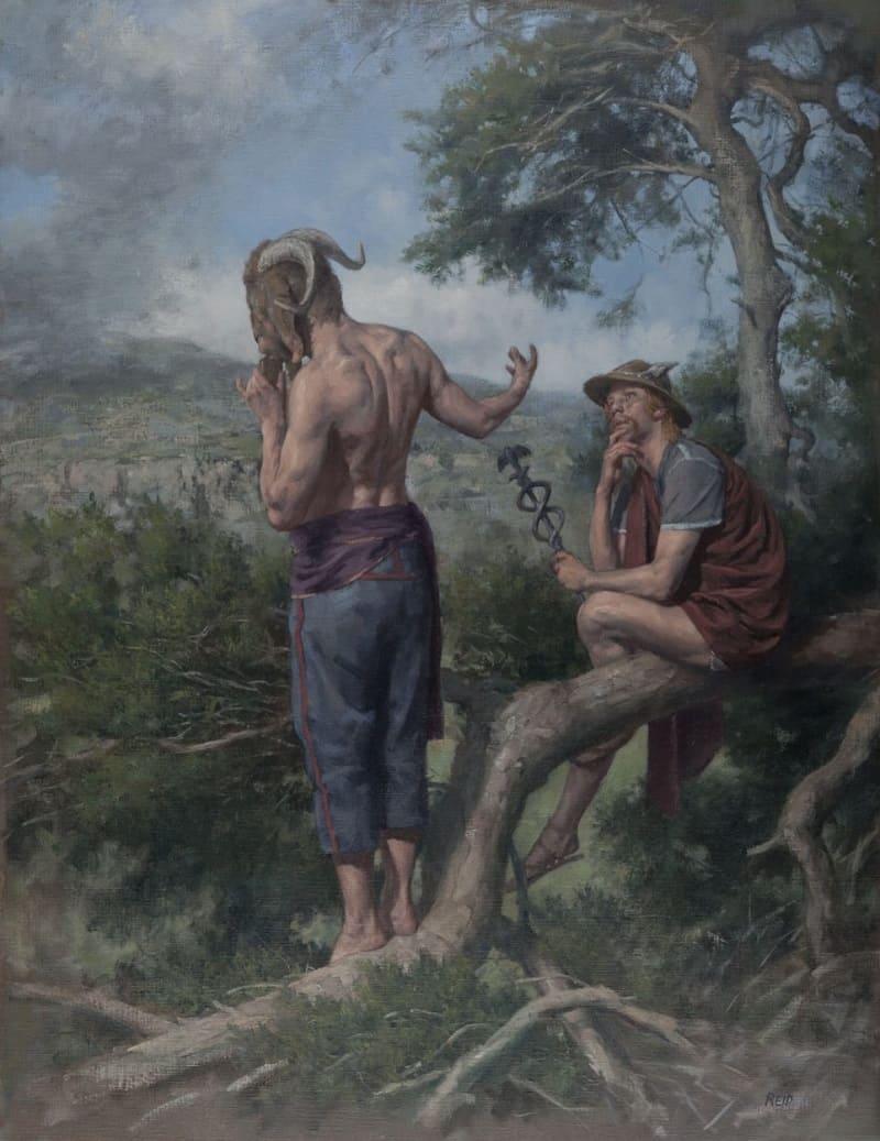 Пол Рид, современный шотландский художник, так увидел Гермеса и Пана
