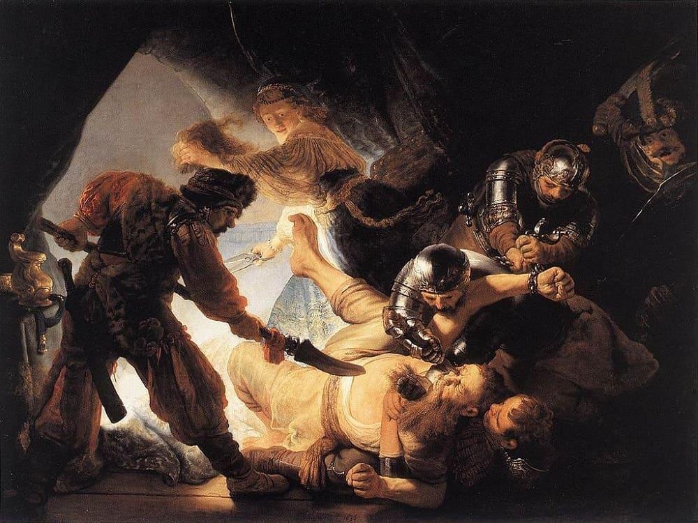 Рембрандт «Ослепление Самсона», 1636 год Местонахождение: Музей Штаделя, Франкфурт, Германия