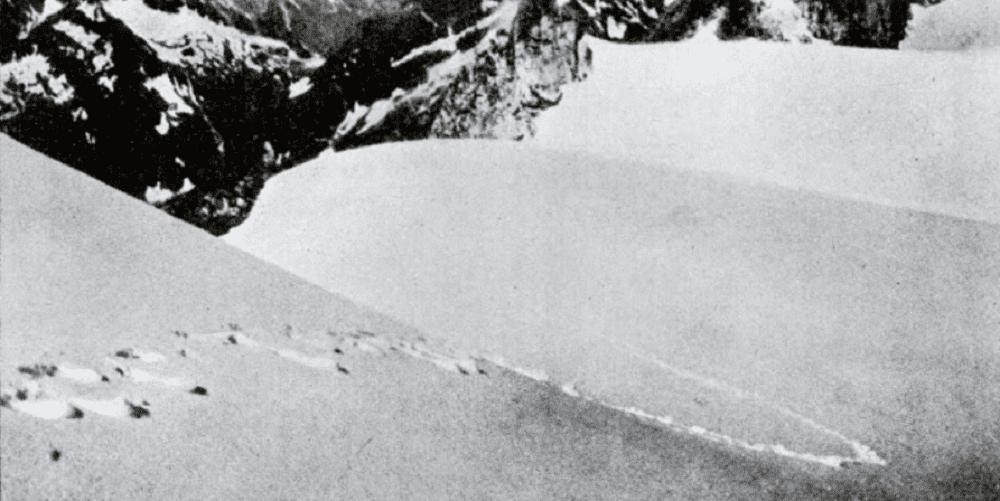 Следы, найденные в 1937 году в Гималаях и принадлежащие якобы йети, оказались медвежьими. Фото из журнала «Popular Science», 1952 год