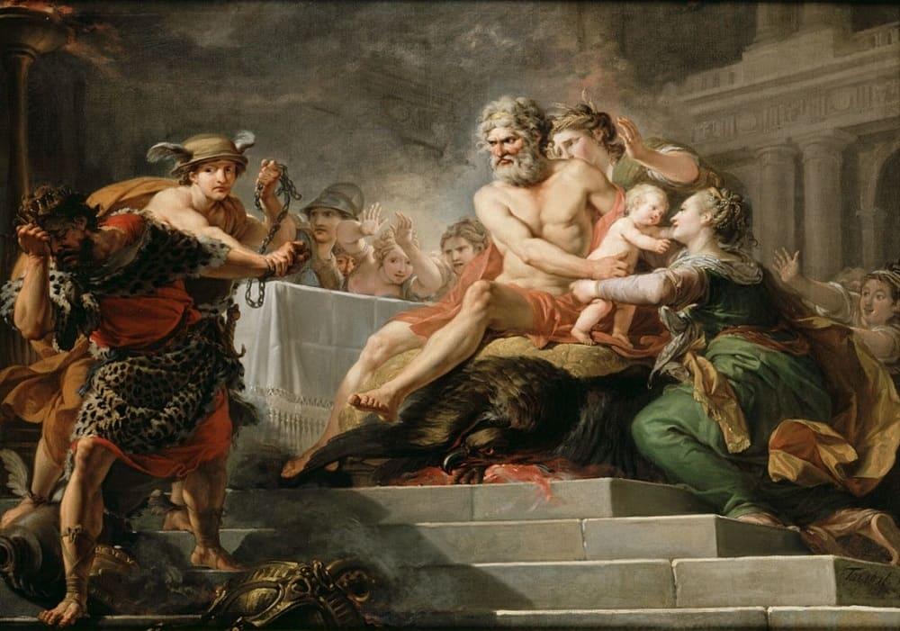 Танталу не удалось обмануть богов, но прогневить их удалось. Жан-Гюго Тараваль «Пир у Тантала», 1767 год