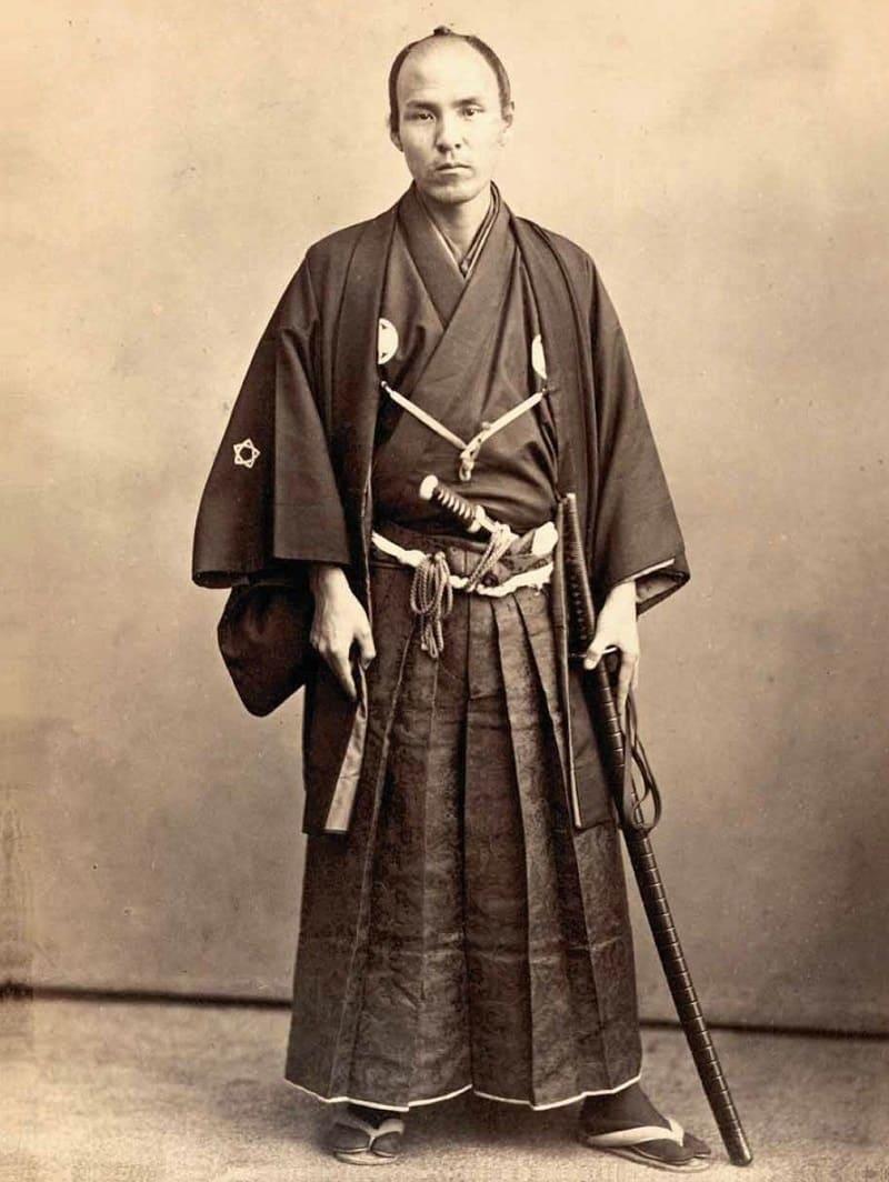 В старину хакама носили только самураи и знать