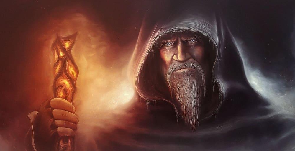 Взгляд исподлобья - одна из характерных черт колдуна / kartinkin.com