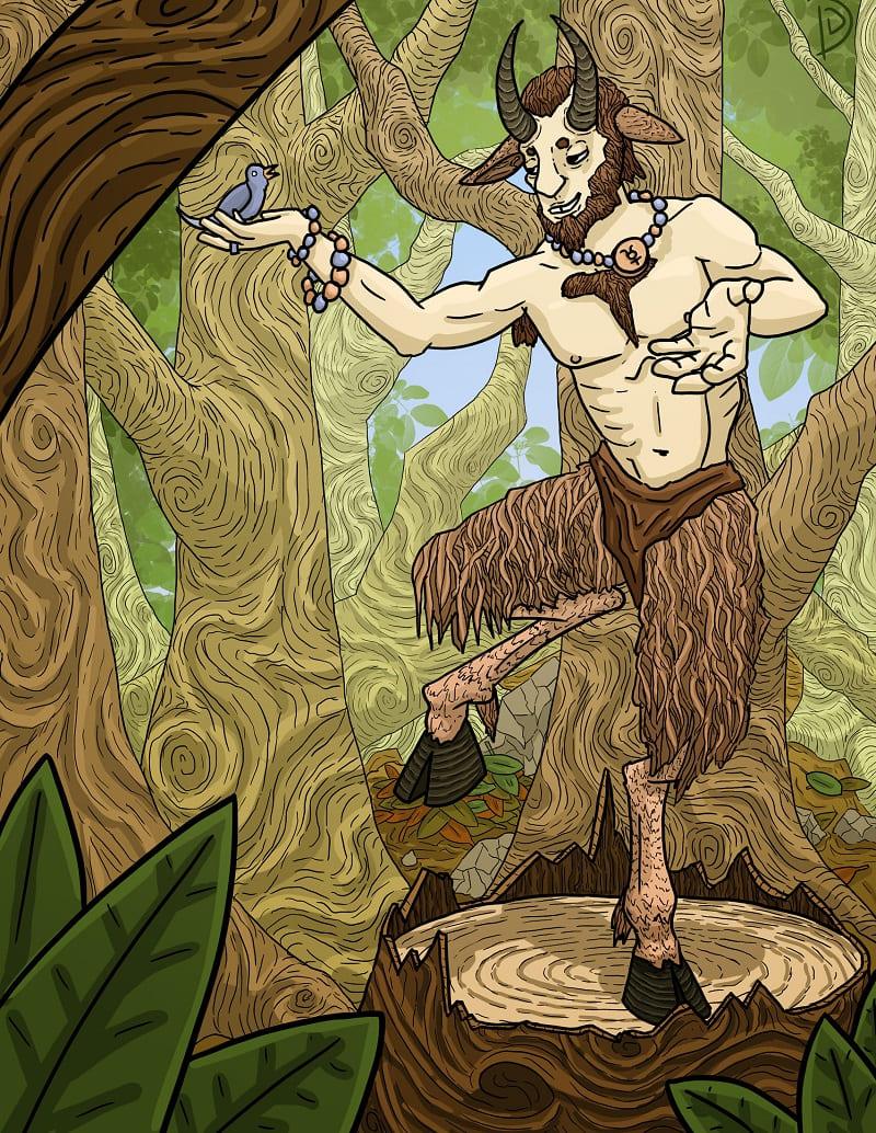 Земные леса и поля были для Пана намного милее священного Олимпа / © Daniel Dimick / аrtstation.com