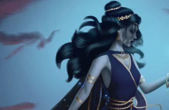 Богиня ночи Никс (Нюкта), фрагмент - Haniel Moreno artstation.com