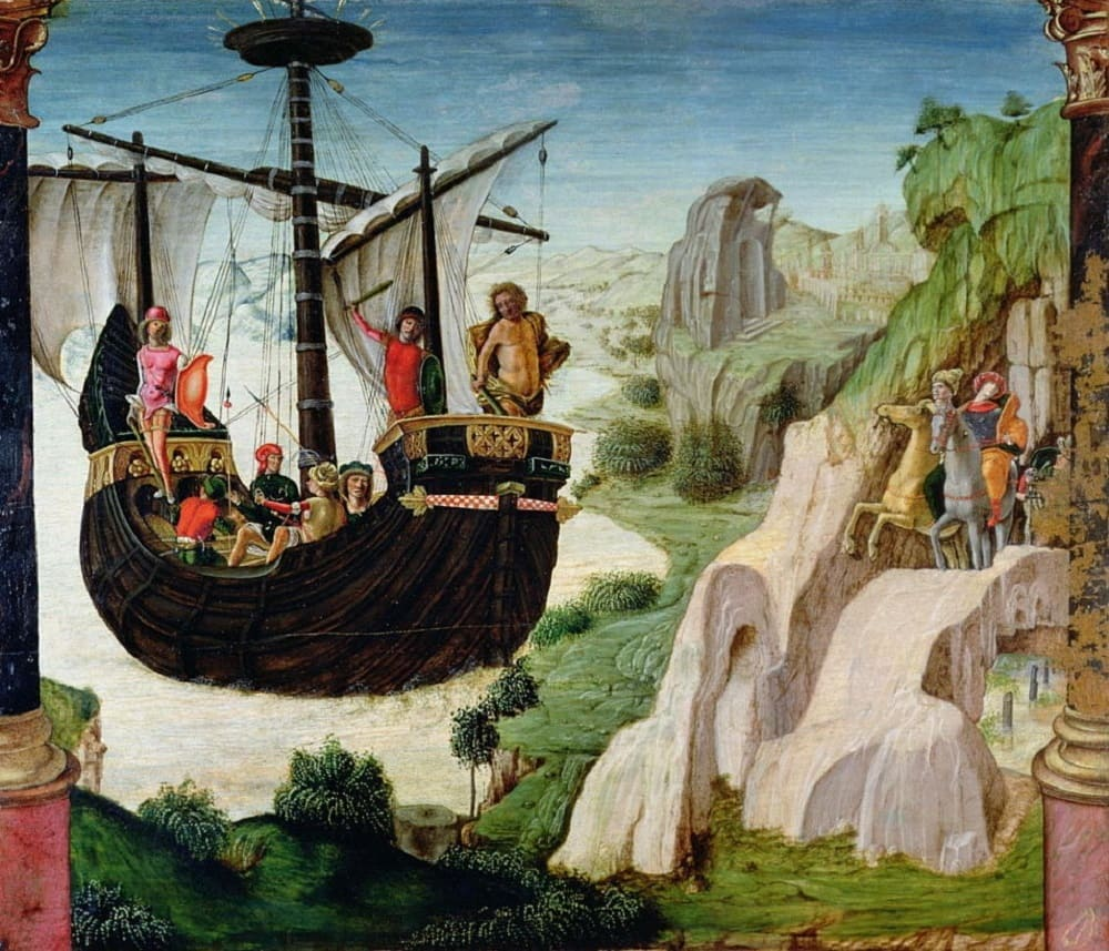 Братья входили в состав команды аргонавтов Лоренцо Коста «Арго», 1500 год Местонахождение: Гражданский музей, Падуя, Италия