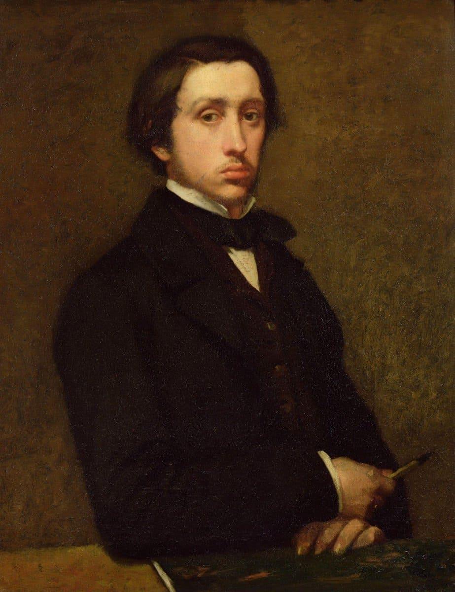 Эдгар Дега «Автопортрет», 1855 год Местонахождение: Музей д'Орсэ, Париж, Франция