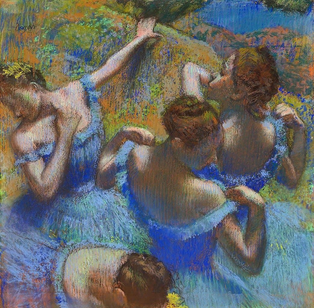 Эдгар Дега «Голубые танцовщицы», 1897 год Местонахождение: Музей изобразительных искусств имени Пушкина, Москва, Россия