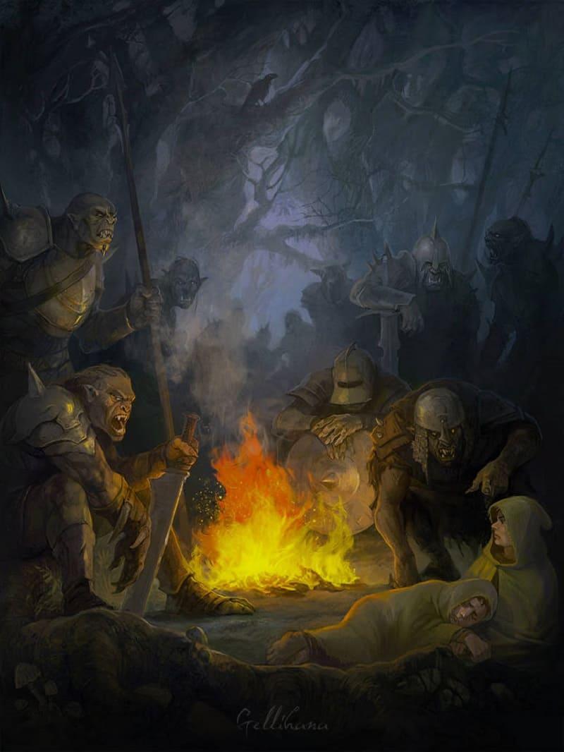 Орки отдыхают в лесу от своих тёмных дел / © Gellihana-art / deviantart.com