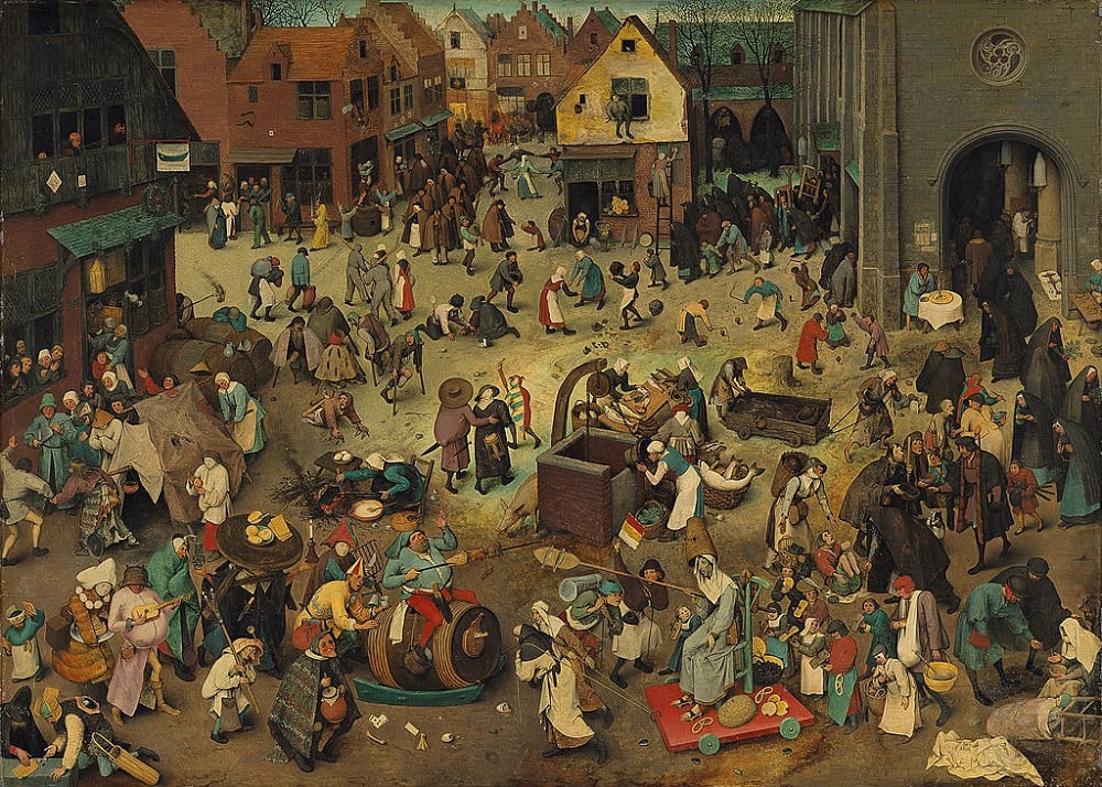Праздник Жирный вторник имеет давние традиции Питер Брейгель Старший «Борьба между Карнавалом и Великим Постом», 1559 год Местонахождение: Музей истории искусств, Вена, Австрия