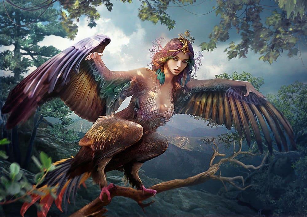 Прекрасная дева-птица Сирин / © Vasylina / deviantart.com