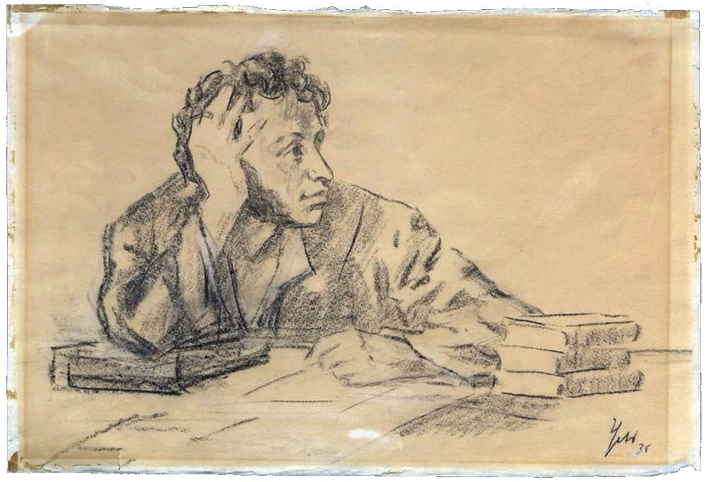 Пушкин за письменным столом / museumpushkin.ru.