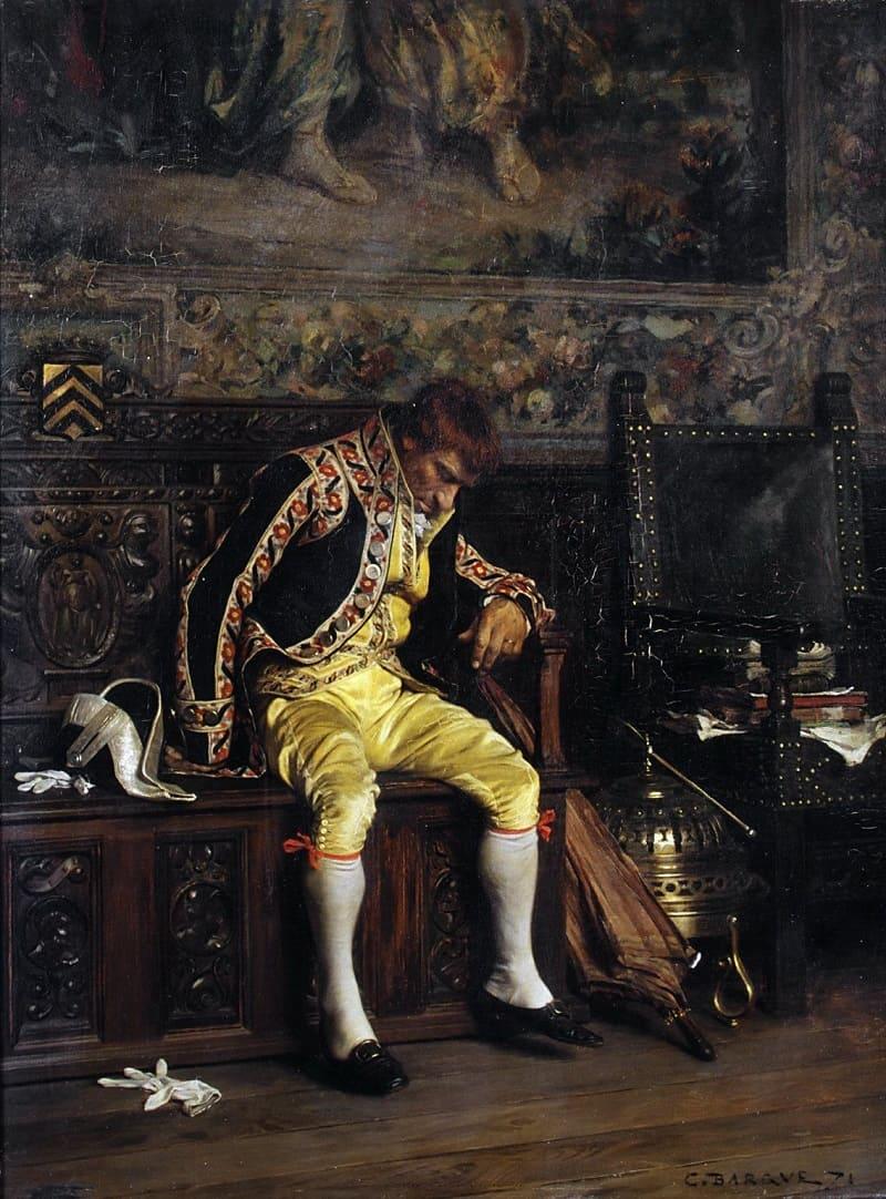 Шарль Барке «Спящий лакей», 1871 год Местонахождение: Художественный музей Метрополитен, Нью-Йорк, США