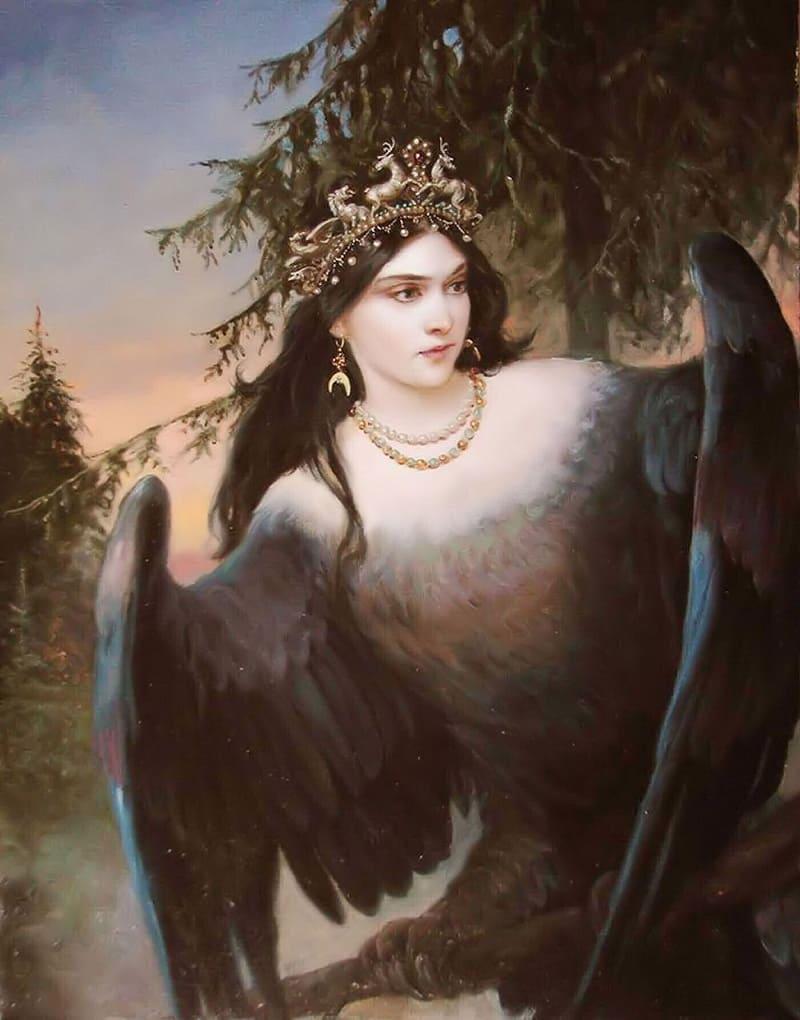 Сирин была вещей птицей, сообщавшей людям о том, что их ждёт Андрей Алексеевич Шишкин «Птица вещая», 2007 год / a-shishkin.ru