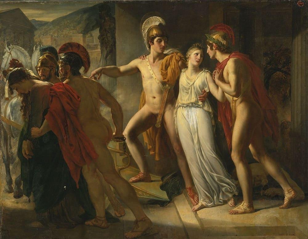 Жан-Бруно Гасси «Кастор и Поллукс спасают Елену», 1817 год Местонахождение: Частная коллекция